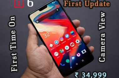 OnePlus 6 Unboxing and First Loo