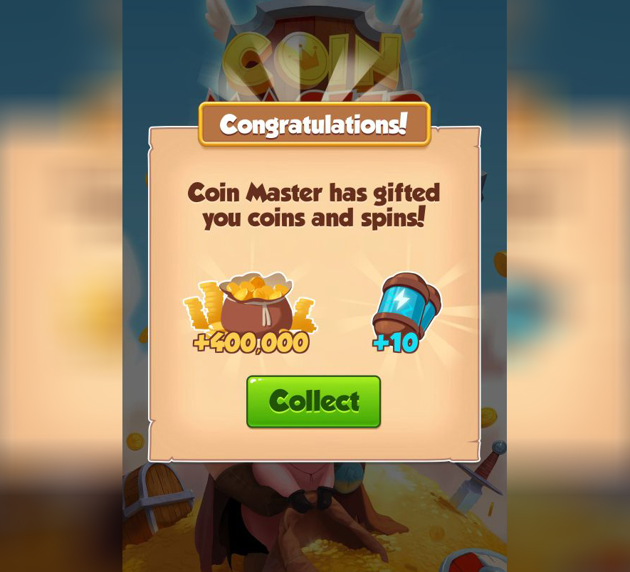 Grab CoinMaster 4.5Mcoins and 10 spins free and get now