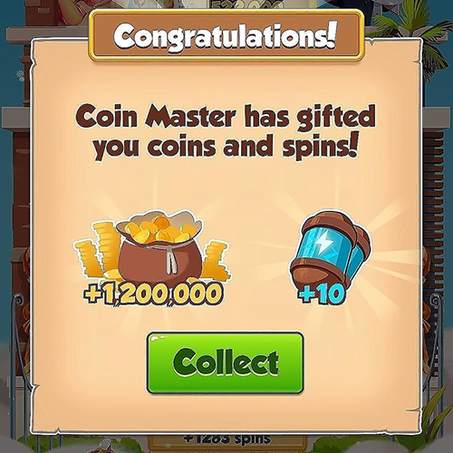 Today Free 10 spins and 1.5M Coins link